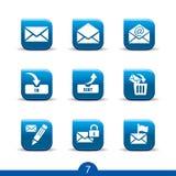 7个图标邮寄平稳的系列 免版税图库摄影
