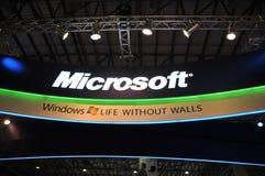 7 2009 fönster för gitexmicrosoft paviljong Arkivbild