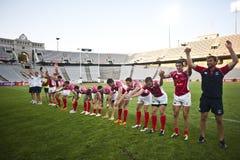 7 2011年巴塞罗那全部prix橄榄球系列 免版税库存图片