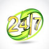 7 24个例证 免版税库存图片
