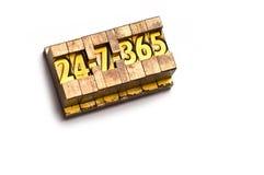 7 24 365 免版税库存照片
