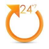 7 24 cirkel Arkivbild