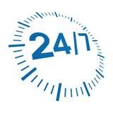 7 24 doręczeniowych godzina Zdjęcie Stock