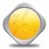 7-24 servizio Immagine Stock Libera da Diritti
