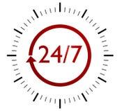 7 24 znaka royalty ilustracja