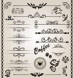 集合花卉华丽设计要素(7) 免版税库存图片