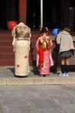 7.5.3 (Shichi-aller-san) - priant   Images libres de droits
