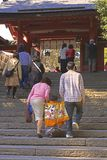 7,5,3 (Shichi-go-san)-going Up To The Temple Royalty Free Stock Photography