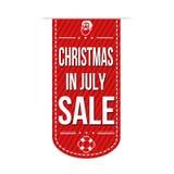 在7月销售横幅设计的圣诞节 免版税库存照片