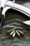 7.62 Kalibergewehrkugeln für Gewehre Lizenzfreies Stockbild