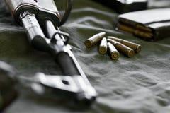 7.62 Kalibergewehrkugeln für Gewehre Lizenzfreie Stockfotografie