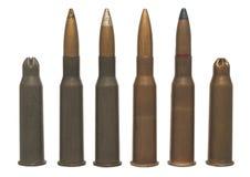 7.62 x 54 - munizioni isolate Fotografia Stock Libera da Diritti
