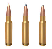 7.62mm bullet Stock Image