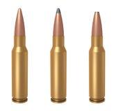7.62mm bullet. 3D computer illustration of 7.62x51mm NATO ammunition Stock Image