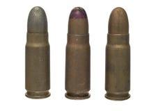 7.65 bronzeando - munições isoladas Imagem de Stock