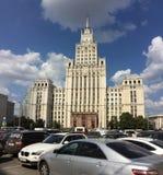 7个姐妹斯大林天空刮板在莫斯科 免版税库存图片