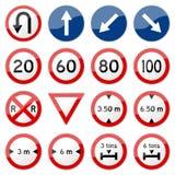 7 8 glansowany drogowy setu znaka wektor Obraz Stock