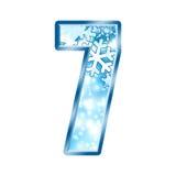 7 alphabet number seven winter διανυσματική απεικόνιση