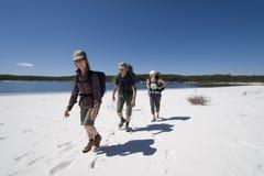 7 Australien fotvandrare tre Arkivbilder