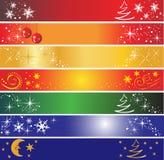 7 banderas de la Navidad fotos de archivo libres de regalías