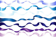 7 bandes bleues. Vecteur Image libre de droits