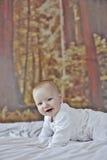 7 behandla som ett barn den gammala pojkemånaden Royaltyfri Foto