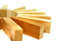 7 blokowych serii drewnianych fotografia royalty free