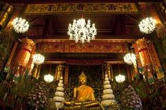 7 Buddha świecznika statua Obraz Stock