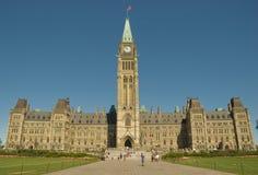 7 byggande kanadensiska captial Royaltyfri Fotografi