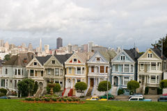 7 casas do Victorian imagem de stock royalty free