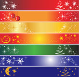 7 Christmas banners. Set of 7 different Christmas banners, useful also as greeting card. Eps file available Royalty Free Stock Photos