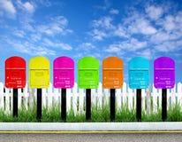 7 color postbox Royalty Free Stock Photos