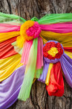 7 colored fabric blessing Stock Photos