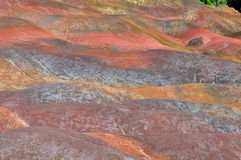 7-coloured earth of chamarel Royalty Free Stock Photo