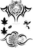 7 czerń tatuażowy wektor Fotografia Royalty Free