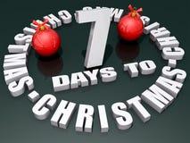 7 Days to Christmas Stock Photo