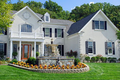 7 domu luksusu statua Obraz Royalty Free