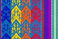 7 för bomullstabell för torkduk färgrika texturer Royaltyfri Fotografi