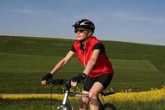 #7 faisant du vélo photos stock