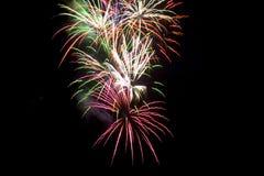 7 fireworks Στοκ Εικόνα