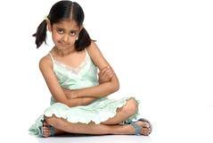 7 gammala år för gullig flicka Royaltyfri Bild
