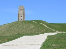 7 glastonbury tor Obraz Stock