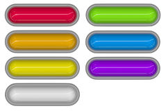 7 glossy 3d tubes in different colors Royalty Free Stock Images