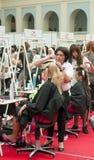 7 hairdresses конкуренции wedding Стоковое Изображение