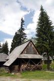 7 historiska hus Royaltyfri Bild