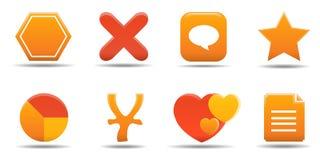 7 ikon postawił części sieci, Obrazy Royalty Free