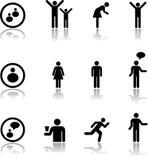 7 ikon ustalonych przez ludzi Zdjęcia Royalty Free