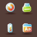 7 ikon ustawiająca wektorowa sieć Zdjęcia Stock