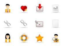 7 ikony internetów melo ustalona strona internetowa ilustracji