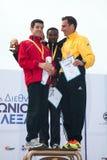 7. Internationales Alexander der Große-Marathon Stockbilder